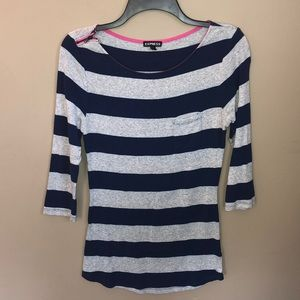 🌊 Express striped 3/4 sleeve top